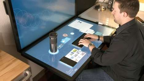 Projected Touchscreen Tables - Ideum's Dynamic Desktop Comprises Projected Capacitive Touch Tables