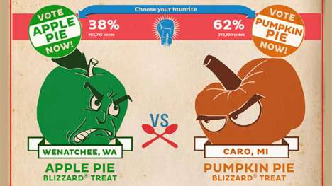 Rivaling Dessert Campaigns - Dairy Queen's Food Battle Has Apples, Pumpkins & US States Duke It Out