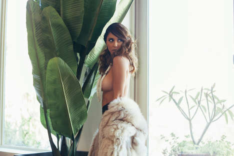 Seductive Boudoir Editorials - Model Tianna Gregory Strips Down in an Editorial by Mat Abad