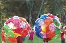 Multicolored Inflatable Balls - The Kaleidoscopic Blow-Up Toys Will Make Kids Light Up in Excitement