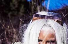 Anime Songstress Editorials - Singer Rihanna Rocks Bold Gray Locks for TUSH Magazine