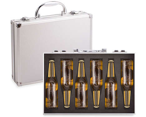 Deceptive Beer Briefcases - This Office Briefcase Cleverly Conceals a Six Pack of Beer
