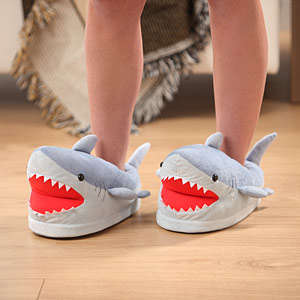 Fierce Shark Slippers - These Comfy House Slippers are Shaped Like the Toughest Ocean Predator