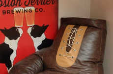 Enormous Boxing Glove Chairs - This Vintage Bean Bag Boxing Glove Chair is a Knockout