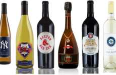 Patriotic Baseball Wines - Each of the Major Baseball Leagues Now Have a Team Wine Bottle