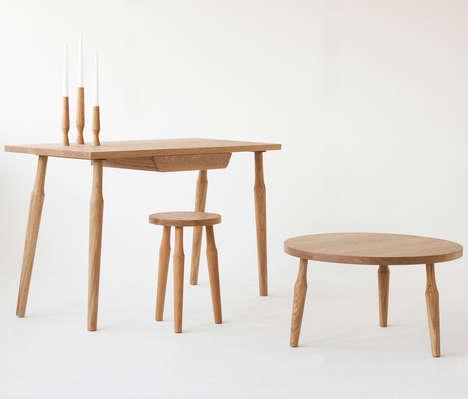 Modernist Architecture Furniture - Santiago by Liam Treanor Boasts Minimalist Wooden Designs