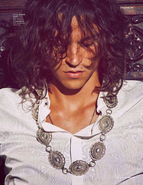 Rocker Homage Fashion - This Miles McMillan by Guy Aroch Series is Inspired by Jim Morrison Style