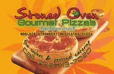 Gourmet Cannabis Pizzas - These Unconvetional Pizza Slices from Stoned Oven are Filled with THC