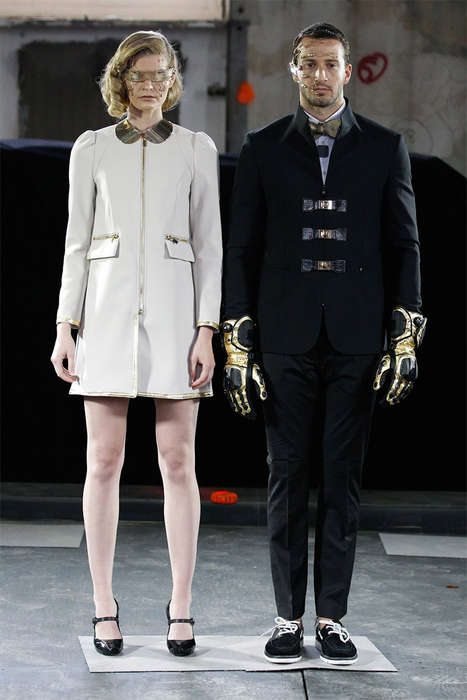 Dapper Cyborg Runways - Marlon Gobel's Latest Runway Show Highlights Futuristic Fashion Designs