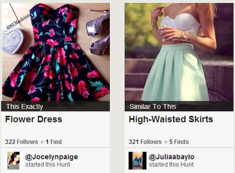 Fashion-Hunting Platforms - The Hunt App Aims to Help Fashion Lovers Find their Desired Pieces