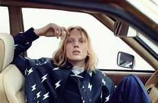 Aesthetic Automobile Editorials - The Dazed 2014 Stranded At The Drive In Photoshoot is Car Bound