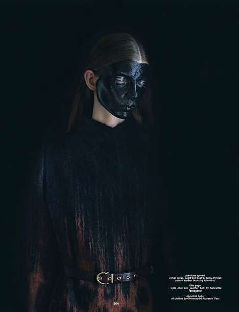 Fierce Face Paint Editorials - The Dazed Magazine Soften The Blow Photoshoot Displays Bold Cosmetics