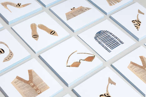 Collaged Clothing Cards - These MOO Business Card Designs Revive Vintage Fashion & Flash Cards