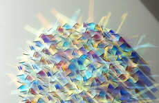 Geometric Dichroic Glass Installations