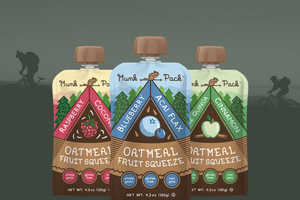 The Munk Pack's Snack Packaging Design Caters to Adventurers of All Ages