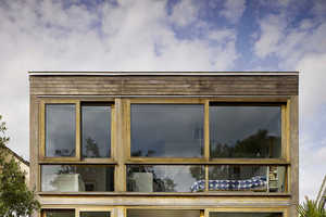The Open House Features a Timber Frame