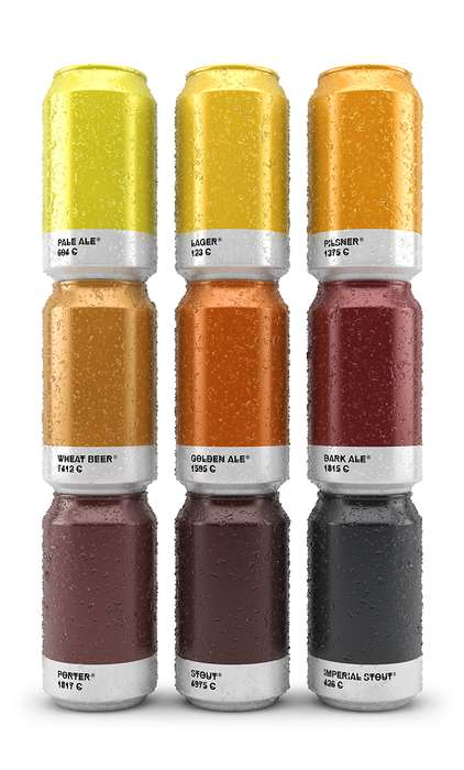 Colorful Beer Branding - This Pantone Packaging Pairs Brew Types With Specific Color Shades