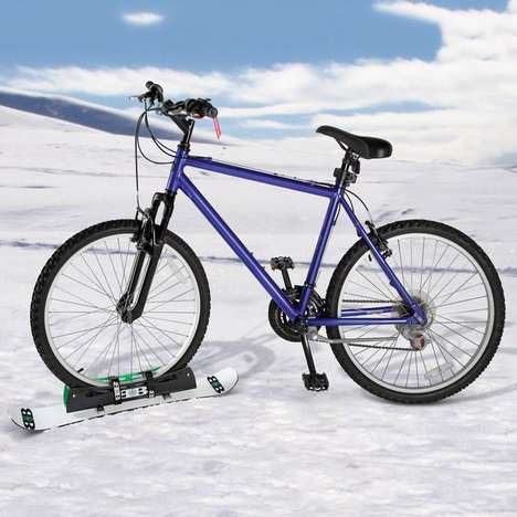 Snowboarding Bicycle Hybrids - The Bike Snowboard Turns Cycling into a Winter Adventure Sport