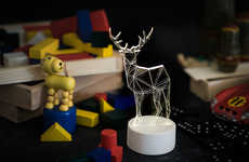 Geometric Animal Lighting - These LED Lamp Sculptures from Etsy Bring the Outdoors Into One's Home