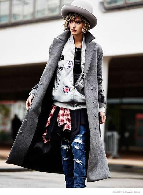 Eclectic Tomboy Fashion - The Latest Issue of Glamour Netherlands Stars Model Soekie Gravenhorst