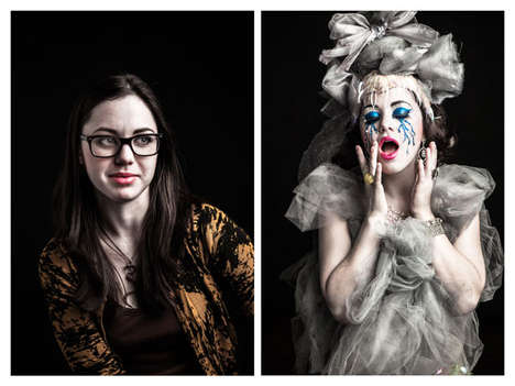 Transformative Burlesque Photography - Sean Scheidt Captures Before and After of Sensual Performers