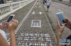 Walk and Text on the Smartphone Sidewalk in China