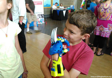 Heroic Limb Replacements - 3D Printing Engineers Create Inspiring Superhero Prosthetic Arms for Kids