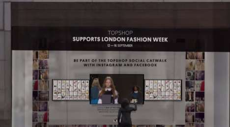 Social Fashion Shows - 'The Social Catwalk' Topshop Runway Show Connects to Instagram & Facebook