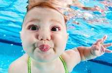 Swimming Infant Photography - Seth Casteel Captures Babies Learning the Self-Rescue Swim Technique