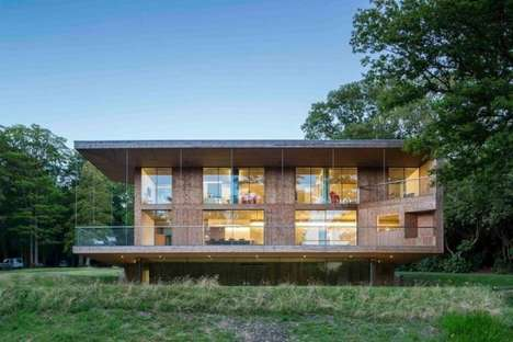 Luxurious Agricultural Abodes - The Red Bridge House is Rich in the Details