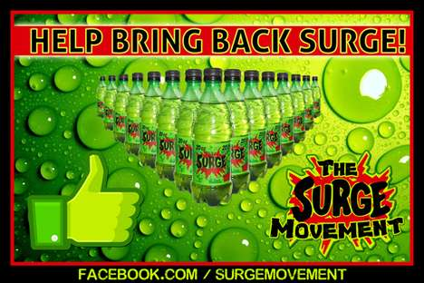 90s Beverage Comeback - The Surge Movement Resurrects the 'Mountain Dew Killer'
