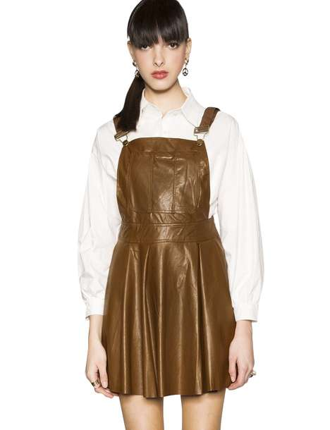 Western Schoolgirl Fashion - This Leather Suspender Dress from Pixie Market is Nostalgic