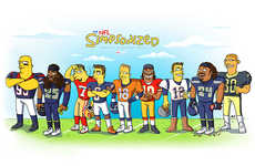 Cartoon Football Teams - Bleacher Report Turns the NFL Football Team into Simpson Characters