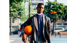 Courtside Couture Editorials - Adonis Bosso Dons Sporty Basketball Fashions for Hello Mr. Magazine