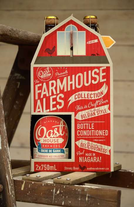 Barnyard Brewery Packaging - Oast House Brewers' Beer 2 Pack Takes Inspiration from the Farm
