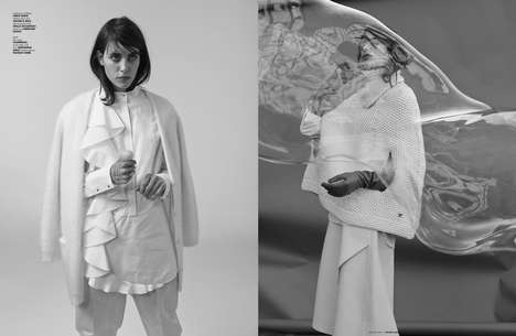 Stark Minimalism Attire - Follow the White Rabbit is an Editorial That Boasts Chic White Fashions