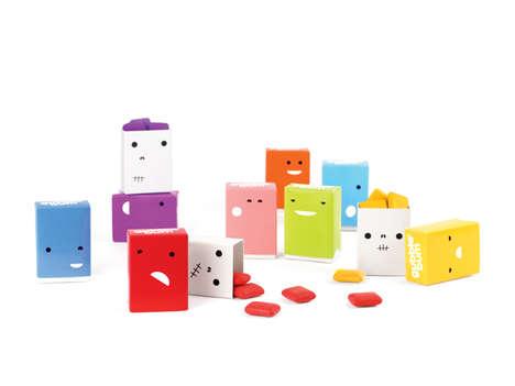 Adorable Bubble Gum Packaging - Gubble Bum by JJAAKK Design is Full of Cute Characters