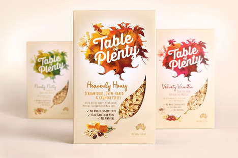 Autumnal Breakfast Branding - Table of Plenty's Breakfast Package Design is Evocative of a Harvest