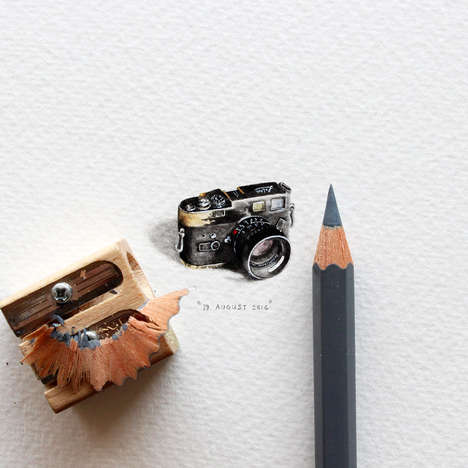 Miniature Artworks - Paintings for Ants by Lorraine Loots is an Adorable 365 Day Project