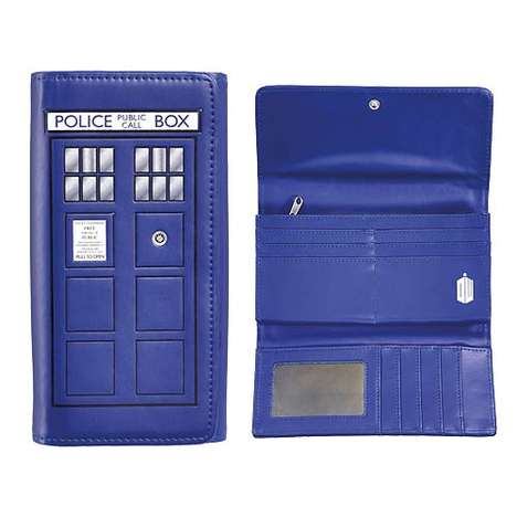 British Sci-fi Wallets - Female Fans of Doctor Who Will Love the TARDIS Ladies Wallet