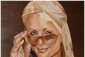 Paris Hilton Portrait Made of Naughty Pictures