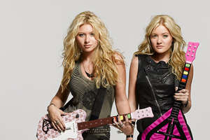 Aly and AJ Rock Band Guitars