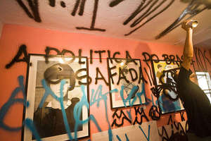 Graffiti Artists Deface Street Art Exhibit