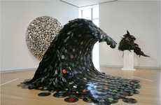 Recycled Record Sculptures - 10 Reinvented Vintage Vinyls
