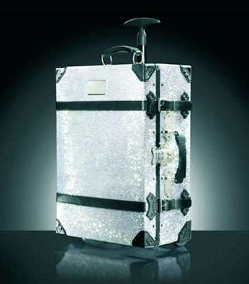 Crystal Encrusted Luggage - The Samsonite Swarovski Trunk