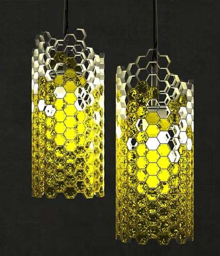 Honeycomb-Inspired Lighting - The Beehouse Lamp