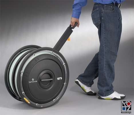 Tire Shaped Luggage - The Samsonite Obag