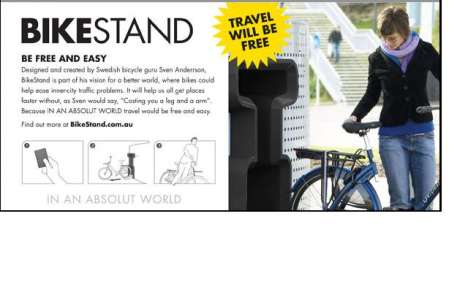 Booze-Branded Transit - The Bike Stand Initiative