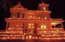 Extreme Halloween Exteriors - 10 Pumpkin Houses