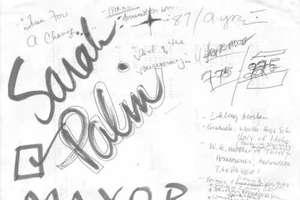Sarah Palin's Daydream Sketches Found